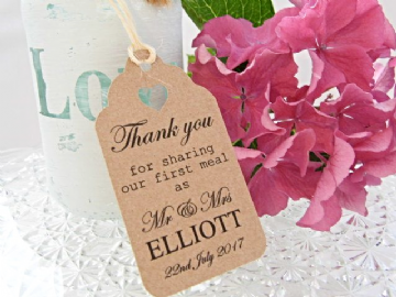 Wedding Luggage Label Gift Tags - Natural